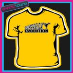 EVOLUTION MONKEY TO STREET BREAK DANCER DANCE TSHIRT